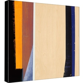 "PTM Images 9-98845  PTM Canvas Collection 12"" x 12"" - ""Geometric Stripes IV"" Giclee Abstract Art Print on Canvas"
