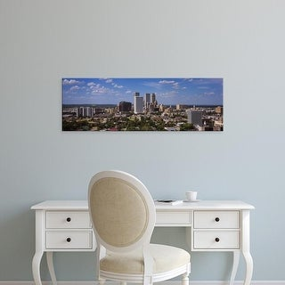 Easy Art Prints Panoramic Images's 'Aerial view of buildings in a city, Tulsa, Oklahoma, USA' Premium Canvas Art