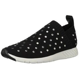 Dolce Vita Women's Bruno Sneaker, Black Knit, Size 9.5