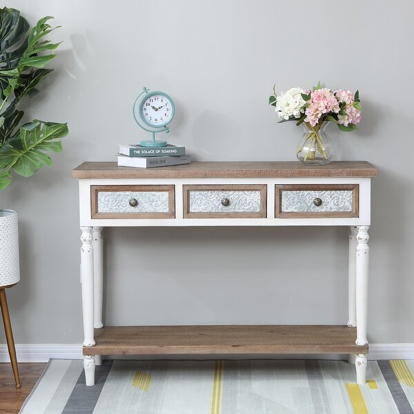 The Gray Barn Blackberry Brambles 3-drawer Wood Console Table. Opens flyout.