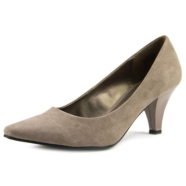 Karen Scott Meaggann Women Pointed Toe Synthetic Gray Heels