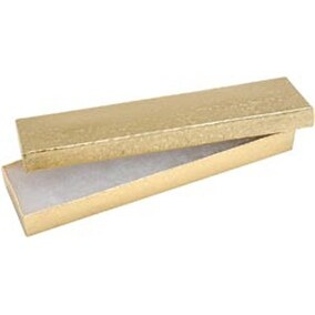 """Gold - Jewelry Boxes 8""""X2.125""""X.875"""" 6/Pkg"""