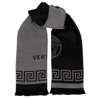 Versace IT00596 MARINE 100% Wool Greek Key Ladies Shawl