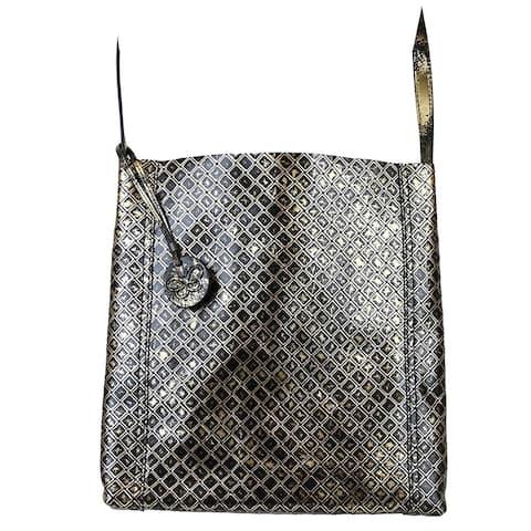 d8e261135 Bottega Veneta Women's Gold / Black Leather Medium Intrecciomirage  Messenger Bag 298785 8414