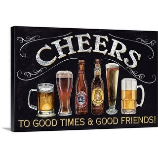 """Cheers!"" Canvas Wall Art"