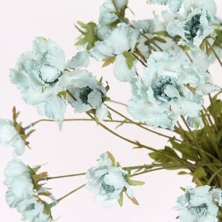 "G Home Collection Silk Serrated Petal Cosmos in Light Blue 25"" Tall"