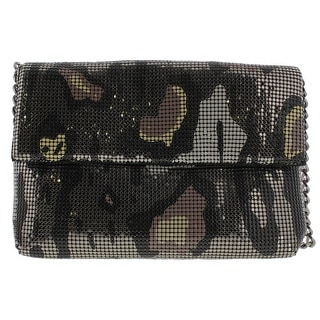 Whiting & Davis Womens Metallic Printed Clutch Handbag - Multi - o/s