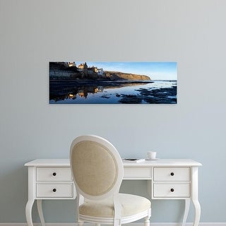 Easy Art Prints Panoramic Images's 'Reflections, Robin Hood's Bay, North Yorkshire, England, United Kingdom' Canvas Art