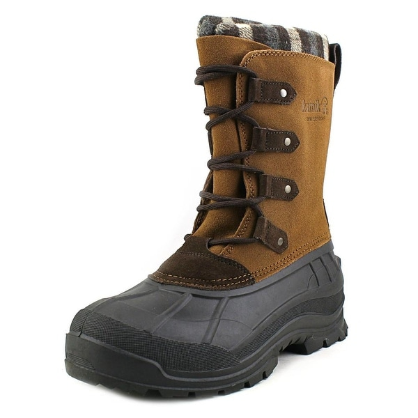 Kamik Calgary Women Round Toe Synthetic Brown Snow Boot