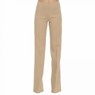 Theory NEW Beige Women's Size 4 High-Waist Wide-Leg Casual Pants