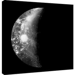 "PTM Images 9-101222  PTM Canvas Collection 12"" x 12"" - ""Abstract Moon Phase 1"" Giclee Maps Art Print on Canvas"