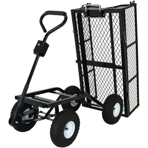 Sunnydaze Heavy Duty Dump Cart or Dump Cart with Liner - Options