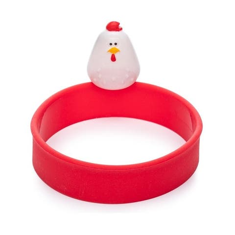Joie Doodle Doo Chicken-Themed Fry Pan Silicone Egg Ring with Tab Handle