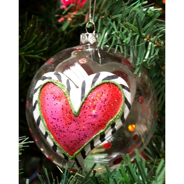 Silvestri Lisa Frost Heart Ball Ornament