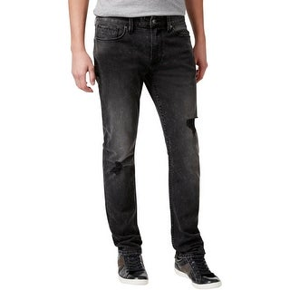 Guess Mens Straight Leg Jeans Distressed Low Rise - 36