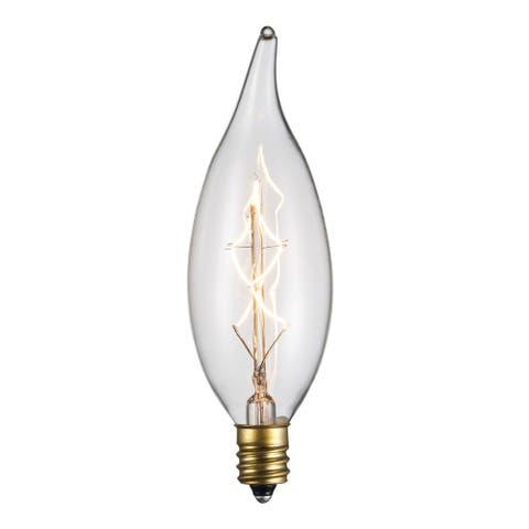 Trans Globe Lighting OC-CA40 Single 40 Watt Clear Vintage Edison