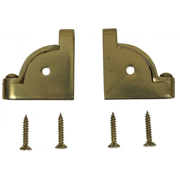 Pair Carpet Stair Rod Brackets Solid Brass Swivel Hinge