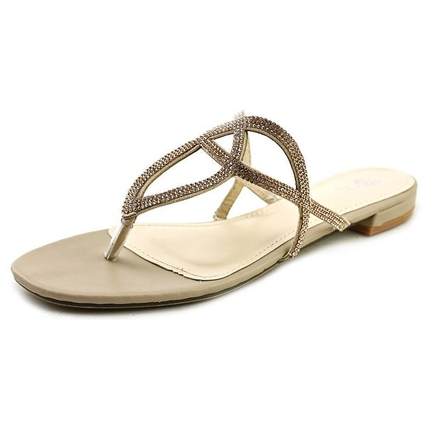 G.C. Shoes Love Bug Women Open Toe Canvas Nude Thong Sandal