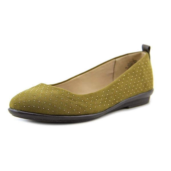 Easy Spirit Kimera Women Round Toe Canvas Green Flats