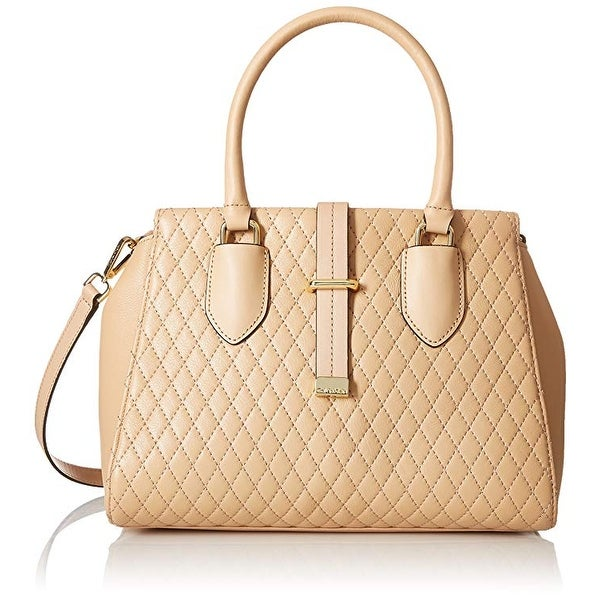 Shop Calvin Klein Quilted Lamb Tote Nude On Sale Free