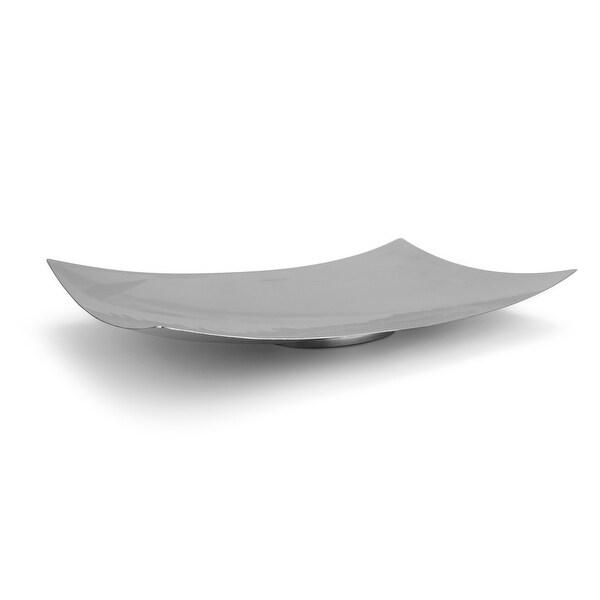 American Metalcraft Muddled Stainless Steel Rectangular Platter - 18.0 in. x 11.0 in.