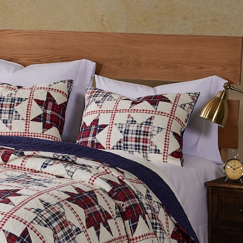 Barefoot Bungalow Liberty Americana Quilted Pillow Sham Set (Set of 2)