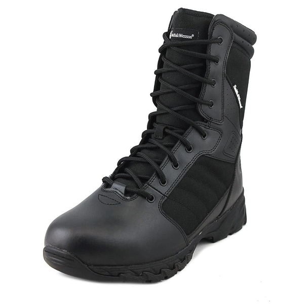 Smith & Wesson Breach Men Steel Toe Leather Black Combat Boot