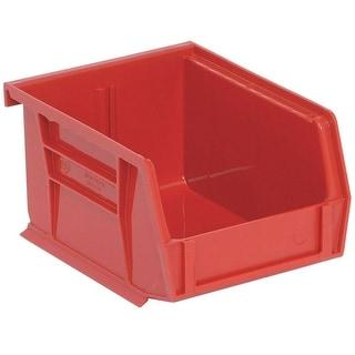 "Quantum QUS210RD Red Polypropylene Storage Bin, 5-3/8"""