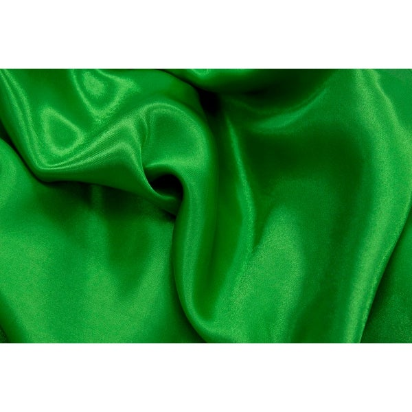 54 inch by 40 yards Material: 100% Polyester Satin Fabric Roll - Kelly Green (new tone)