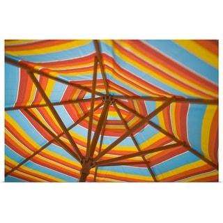 """Beach umbrella"" Poster Print"