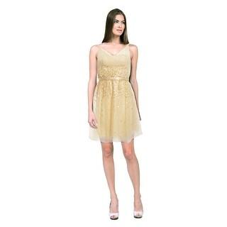 Kathy Hilton Romantic Tulle Sleeveless Cocktail Evening Dress - 2