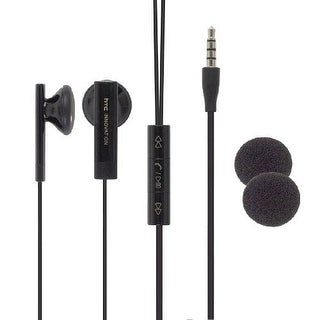 HTC Stereo Headset with Remote Controller, Mic, Universal 3.5mm for Thunderbolt,