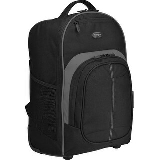 Targus TSB750USB Targus Compact Rolling Backpack for Laptops up to 16-Inch/MacBook Pros up to 17-Inch, Black (TSB750US)