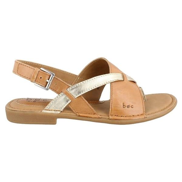 B.O.C Womens Lowery Leather Split Toe Casual Slingback Sandals