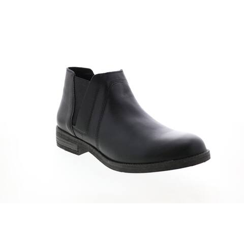 Clarks Demi Beat Leather Black Womens Chelsea Boots