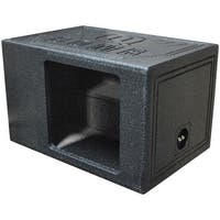 """Qpower Single 12"""" Bomb BoxSquare Ported Square Woofer opening"""