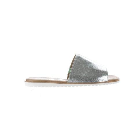 SOREL Womens Ella Block Vivid Mint Slides Size 7.5