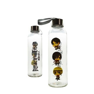 Link to Attack On Titan Glass Water Bottle - Multi Similar Items in Glasses & Barware
