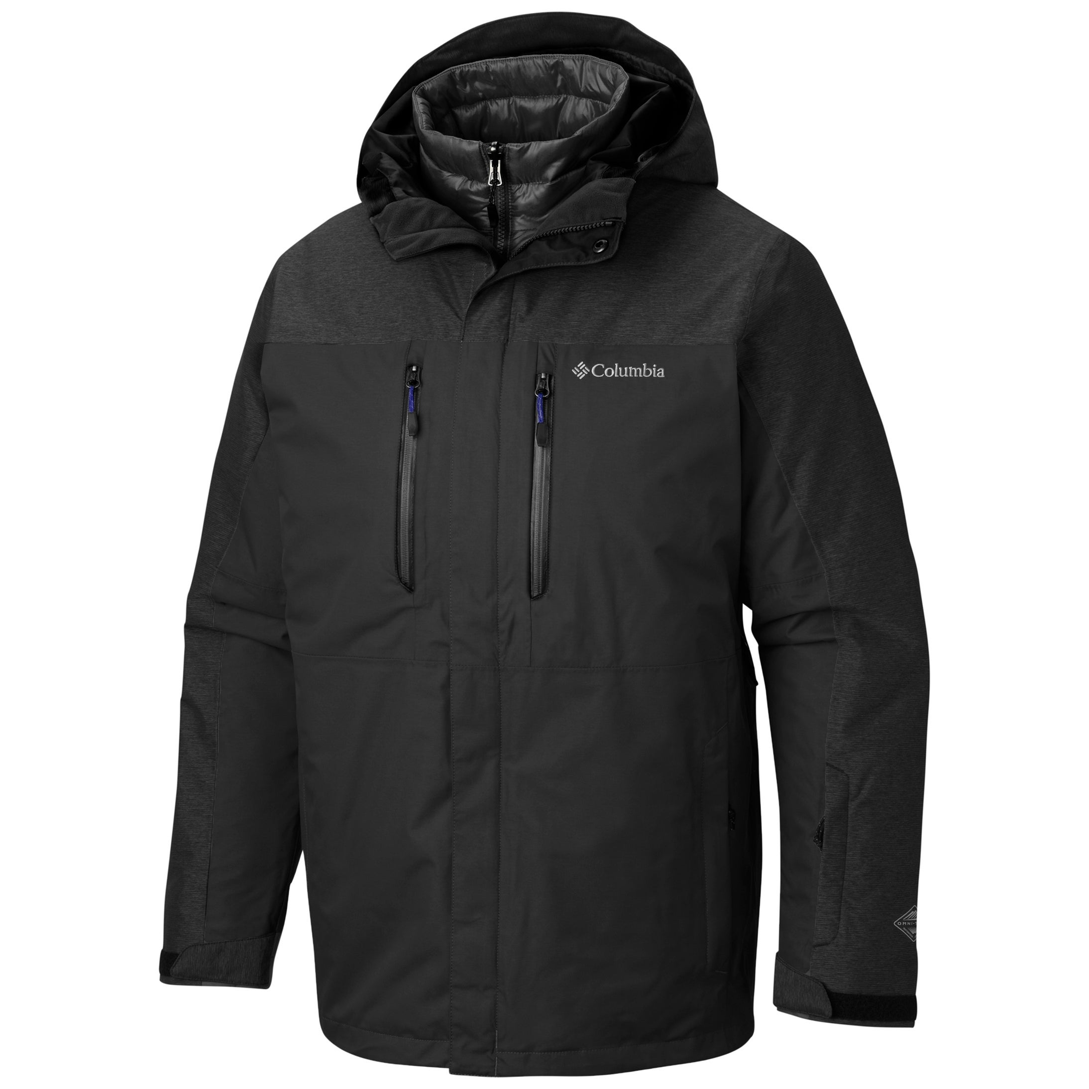 Columbia In Bounds 650 TurboDown Interface Jacket, Mens Black,Black S