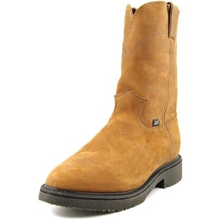 Justin Boots 0760 12541123 Men Round Toe Leather Brown Work Boot