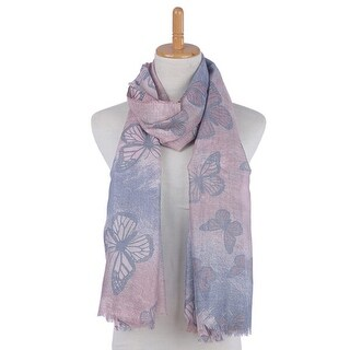 Mad Style Royal Blue Butterfly Modal Scarf