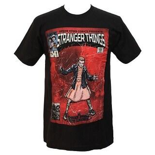 Stranger Things Mens Upside Down Comics Eleven Character T-Shirt
