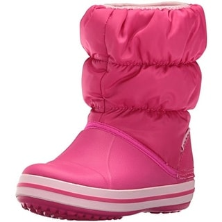 Crocs Girls Winter Puff Lined Quilted Snow Boots
