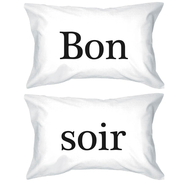Bold Statement Pillowcases 300-Thread-Count Standard Size 20 x 31 - Bon Soir