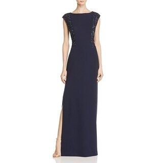 Aidan Mattox Womens Evening Dress Matte Jersey Sequined