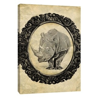 "PTM Images 9-105868  PTM Canvas Collection 10"" x 8"" - ""Framed Rhinoceros"" Giclee Rhinoceroses Art Print on Canvas"
