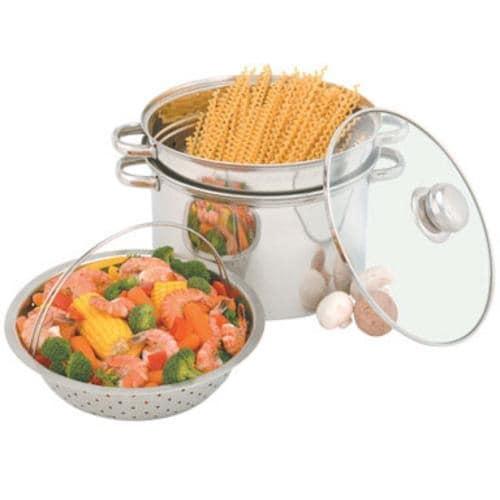 Heuck 36002 Stainless Steel Pasta/Steamer Pot, 8 Quarts