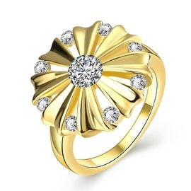 Blossoming Gold Crystal Ring