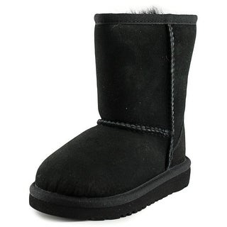 Ugg Australia Classic Youth Round Toe Suede Black Winter Boot