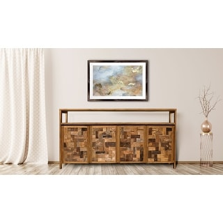 Link to Chic Teak Recycled Teak Wood Mozaik Media Center / Buffet with 4 Wooden Doors Similar Items in TV Stands & Entertainment Centers